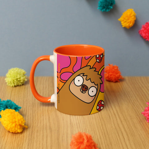 Personalised Groovy Sloth Mug From Pukkagifts.uk