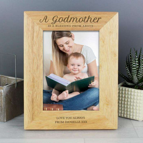 Engraved Godmother Photo Frame from Pukkagifts.uk