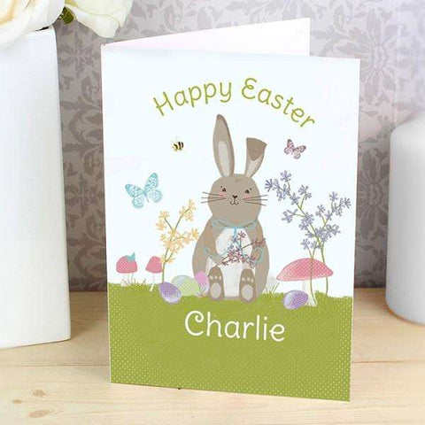 Personalised Easter Meadow Bunny Card from Pukkagifts.uk