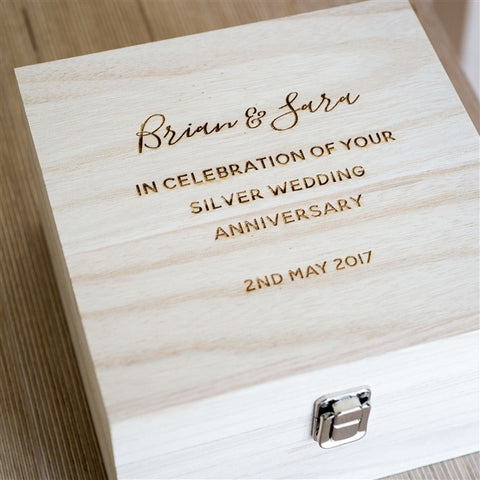 Personalised Wooden Keepsake Box from Pukkagifts.uk