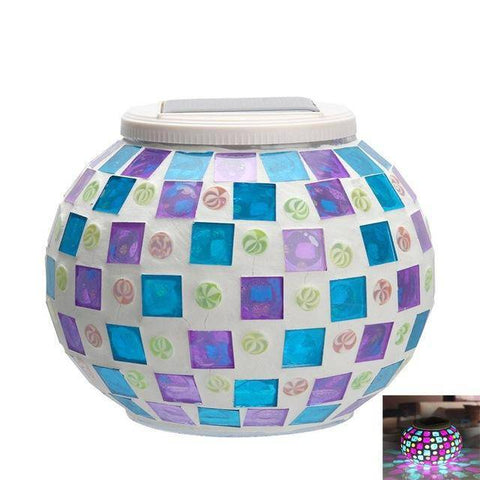 Image of New Solar Powered Mosaic Glass Ball