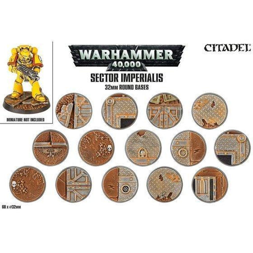 SECTOR IMPERIALIS: 32MM ROUND BASES-Hobby Accessories-Gigante Computers