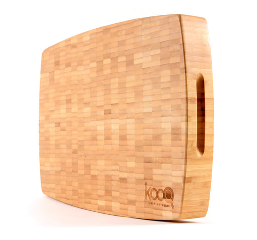 THE EXTRA LARGE BAMBOO CHOPPING BLOCK WITH FEET BY KOOQ (18