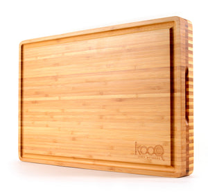 REVERSIBLE CHOPPING & SERVING BOARD! ONE SIDE FOR CUTTING - BEAUTIFUL & SLEEK ON THE OTHER
