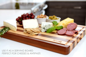 PREMIUM - THE MOST BEAUTIFUL TWO-TONES CUTTING AND SERVING BOARD! UNIQUE CHOPPING BOARD
