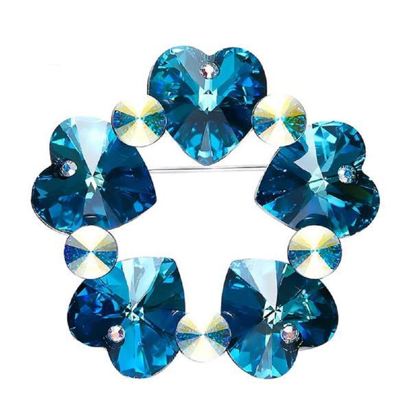 Hearts Brooches Made With Swarovski Elements-BROOCHES & PINS-Vera Nova Jewelry