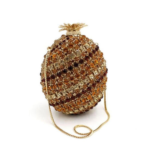 Minaudiere Pineapple Luxury Rhinestone Crystal Evening Clutches - Vera Nova Jewelry