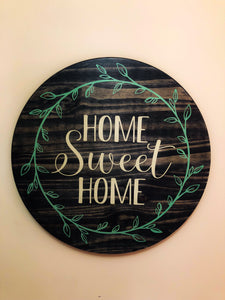 Home sweet home wreath circle