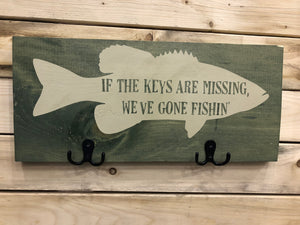 If the keys are missing we've gone fishing