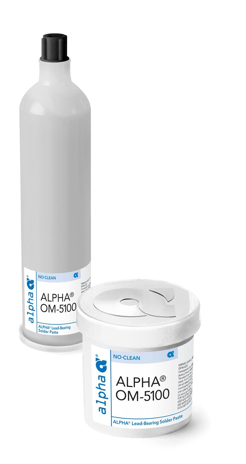 Alpha 143390, OM5100 Sn63 No-Clean Solder Paste, 700 gram Cartridge