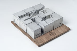 Miniature Concrete Homes (Complete Set)