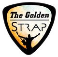 image of Guitar pick logo for thegoldenstrap.com