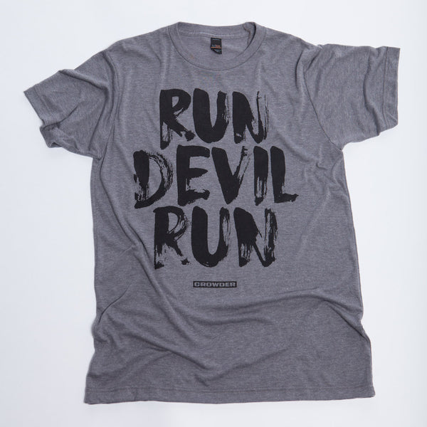 "Gray David Crowder ""Run Devil Run"" Unisex T-shirt."