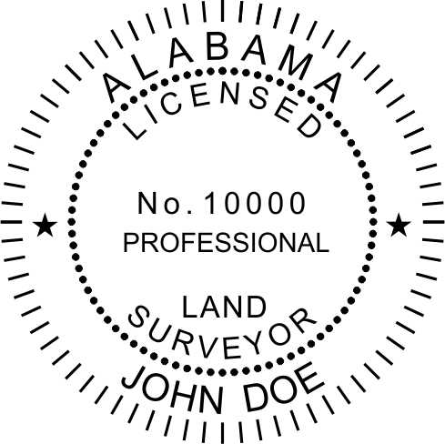 Alabama Land Surveyor - Prostamps