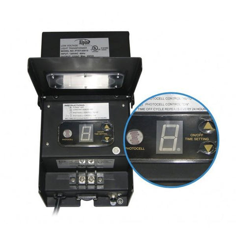 Alpine PL108T 300 Watt Transformer w/ Timer and Photo Cell - Peazz.com