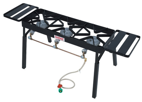 Bayou Classic Tb650 Triple Burner Patio Stove With Extension Legs - Peazz.com