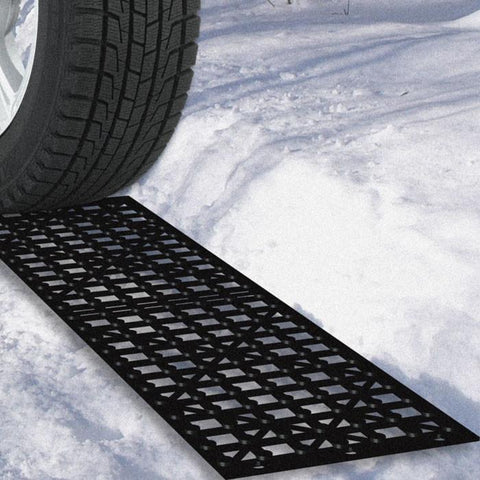 82-Yj498 Car Tire Snow Grabber Mats - 2 Pieces By Trademark Tools - Peazz.com