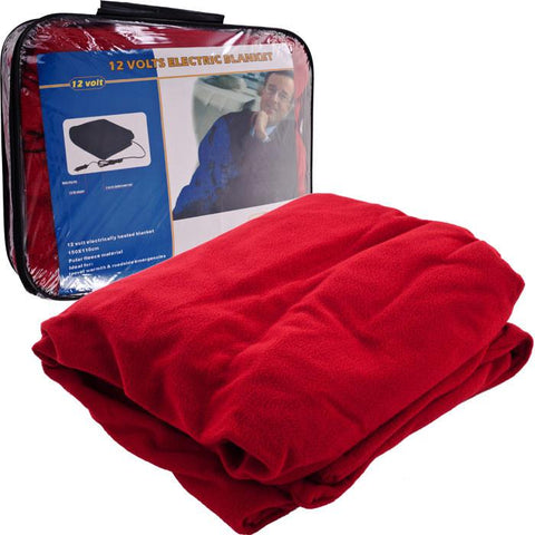 75-Rb680 Trademark Electric Blanket For Automobile - 12 Volt - Red - Peazz.com