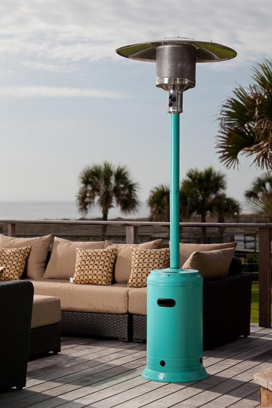 Well Traveled Living 61130 Aqua Blue Powder Coated Patio Heater