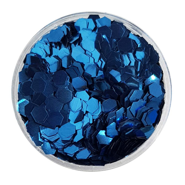 Biodegradable Deep Blue Glitter (Chunky Hexagon Metallic Glitter) - BioDeep Blue Sea