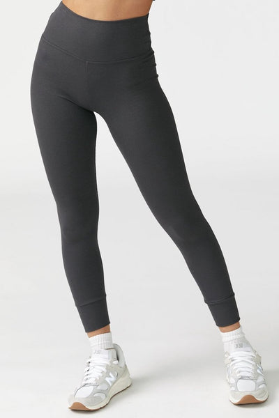 Balance Legging by Joah Brown in Charcoal Flexrib - Front view