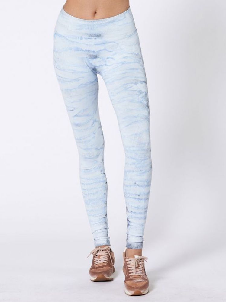 Hand Dyed Mesa Legging by Nux - Slate Waterfall (Front)