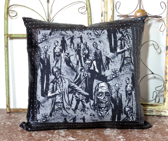 Dead Zombies Walking ~ Large Decorative Throw Pillow