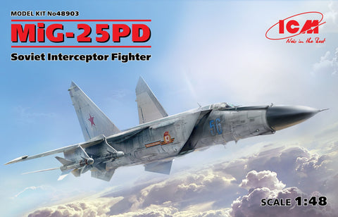ICM Aircraft 1/48 MiG25PD/PDS Soviet Interceptor Fighter Kit