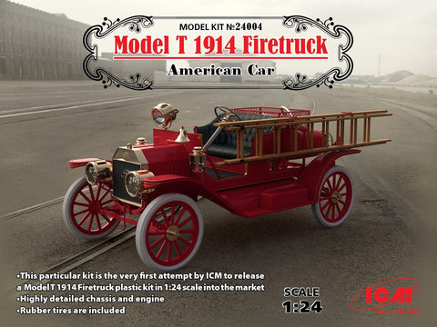 ICM Military 1/24 American Model T 1914 Fire Truck (New Tool) Kit