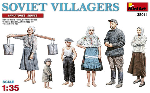MiniArt 1/35 Soviet Villagers (6) Kit