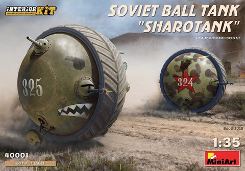 MiniArt Military 1/35 Soviet Ball Tank Sharotank Interior Kit (New Tool) Kit