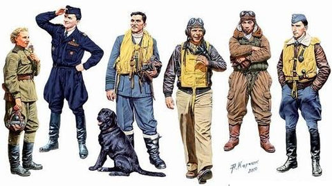 Master Box Ltd 1/32 WWII Famous Pilots (6) Kit