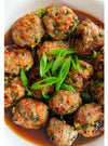 Sweet and sour Thai meatballs