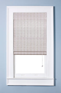 Oriental Semi-Sheer White Washed Roman Shade, Various Sizes