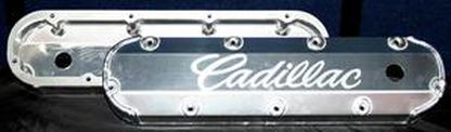 "CADILLAC 472 500 3/8"" BILLET RAIL FABRICATED ALUMINUM VALVE COVERS- CHP-BL74"