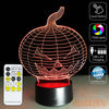 Halloween Pumpkin 3D Illusion Lamp - 3D Led Lamps