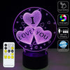 Love You 3D LED Lamp - 3D Led Lamps