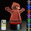 3D Snowman LED Lamp - 3D Led Lamps