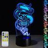 3D Spooky Snake Skull Illusion Lamp - 3D Led Lamps