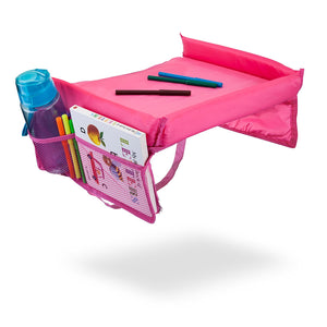 Kids Snack & Play Travel Tray (Pink)