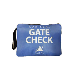 Gate Check Travel Bag For Child Booster Car Seats, Seat Carrier for Standard Seats (Blue)