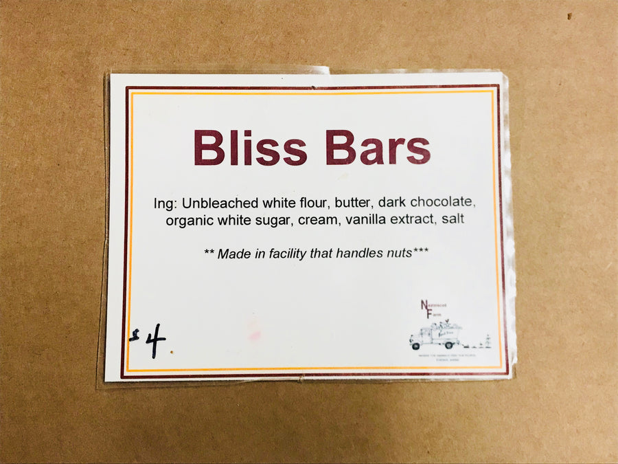 Nezinscot Farm Bakery | Bliss Bars
