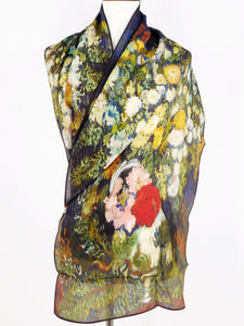 Silk Crepe Scarf - Vincent's Bouquet