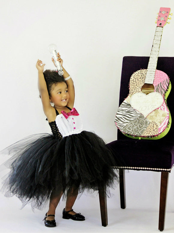 Tuxedo tutu dress-Tuxedo  dress-Tuxedo birthday dress-Janelle Monae Inspired tutu dress