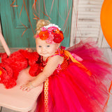 Elmo birthday Dress- Elmo Tutu Dress-Elmo tutu- Elmo Dress