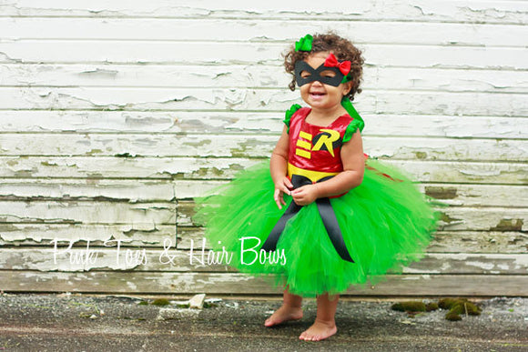 Robin costume- Robin tutu costume- Robin costume dress- Robin dress-Robin tutu