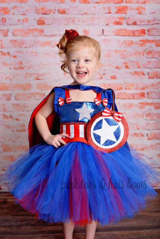Captain america costume- Captain america dress- Captain america tutu dress