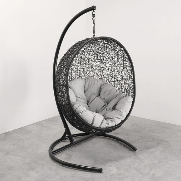 Hanging Egg Chair Round Black