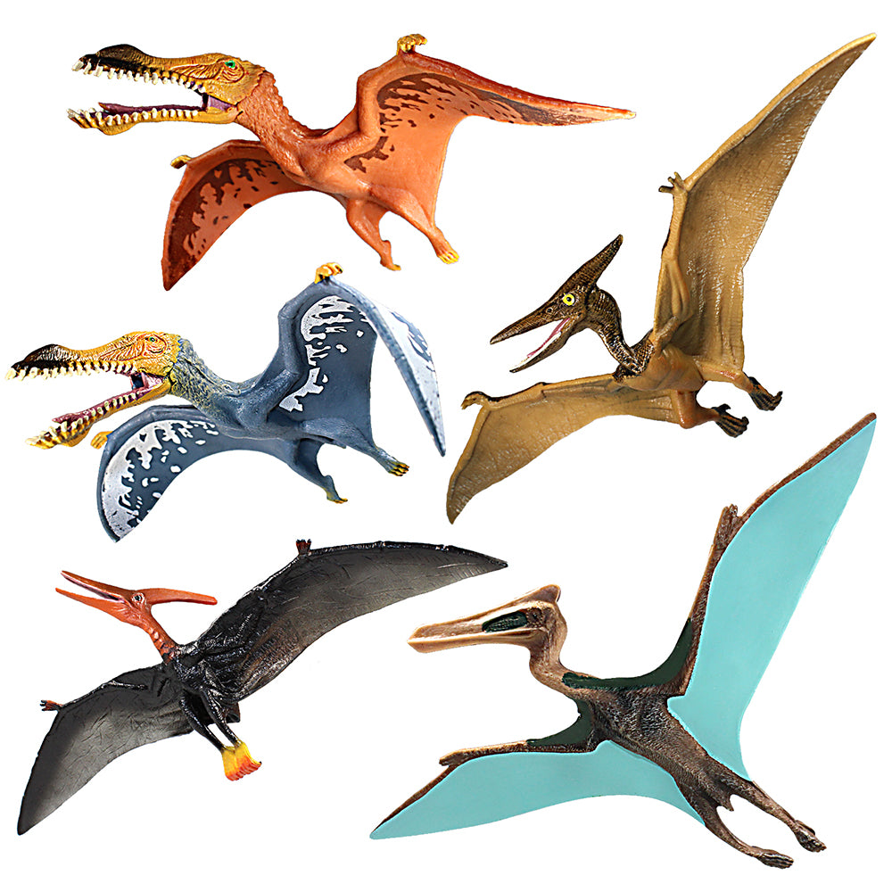 Quetzalcoatlus Figures Some Pterosaurs with Movable Jaws 5-Count