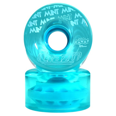 Crazy Skate Candy Outdoor Wheels 4pack 65mm/78a Teal Mint